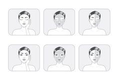 Women Facial Mask. A women illustration made facial mask full face and half face Stock Photography