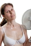 Women with fan Stock Photos