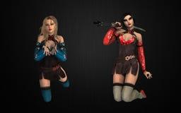 Women of fantasy bundle Royalty Free Stock Images