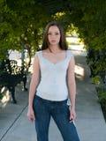 Women fashion casual young brunette Stock Photo