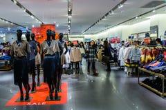 Women fashion clothing shop Royalty Free Stock Photos