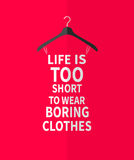 Women fashion dress made  from quotes Stock Photo