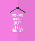 Women fashion dress made from quotes Stock Image