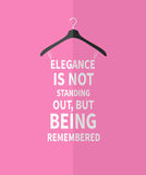 Women fashion dress made from quotes Royalty Free Stock Photos