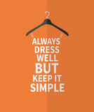 Women fashion dress from quotes. Stock Photography