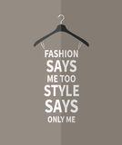 Women fashion dress from quotes. Stock Image