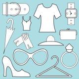 Women fashion icons Stock Images
