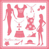 Women fashion icons set Stock Images