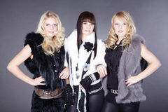 Women with fashion italy Stock Photo