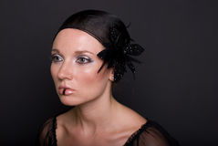 Women with the fashion makeup Royalty Free Stock Photos