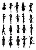 Women of fashion silhouette collection Royalty Free Stock Photos