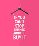 Women  fashion stylized dress from quote. Stock Image
