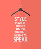 Women fashion stylized dress from  quotes Stock Photography