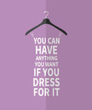 Women fashion stylized dress from  quotes Stock Image