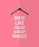 Women fashion stylized dress from quotes Royalty Free Stock Image
