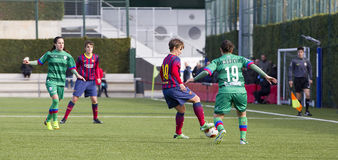 Women FC Barcelona - Sonia Bermudez. Sonia Bermudez of FCB in action at Superliga - Women's Football Spanish League - match between FC Barcelona and Levante UD Royalty Free Stock Photo