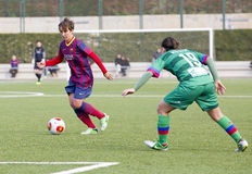 Women FC Barcelona - Sonia Bermudez. Sonia Bermudez of FCB in action at Superliga - Women's Football Spanish League - match between FC Barcelona and Levante UD Stock Image
