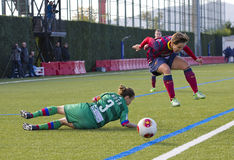 Women FC Barcelona - Sonia Bermudez. Sonia Bermudez of FCB in action at Superliga - Women's Football Spanish League - match between FC Barcelona and Levante UD Stock Photo