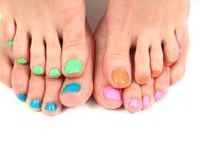 Women feet (pedicure) Stock Photos
