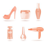 Women Female Cosmetic and Beauty Things Stock Images