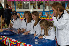 Women Field Hockey Team Members. New Holland, PA - September 30, 2016: Members of the USA women's field hockey team sign autographs and meet fans at the New Stock Image