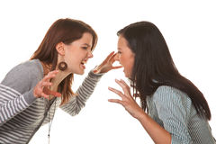 Women fight Royalty Free Stock Photos