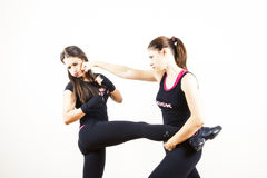 Women fighting royalty free stock photography