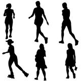 Women Figure Set Royalty Free Stock Photo
