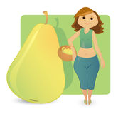 Women figure types: sweet pear royalty free stock image
