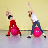 Women with fitness balls Stock Photos