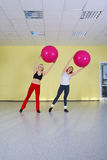 Women with fitness balls Royalty Free Stock Photography