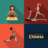 Women fitness Stock Photography