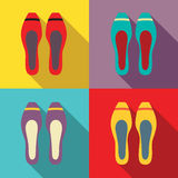 Women Flat Shoes Stock Photo