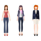 Women flat style icon people figures set Stock Photo