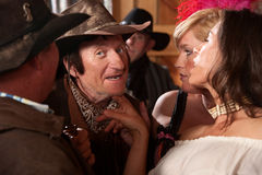 Women Flirt With Cowboy Royalty Free Stock Image