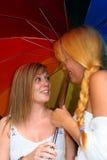 Women flirting Royalty Free Stock Images