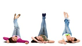 Women on the floor Royalty Free Stock Photography