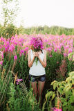 Women in flowers. Stock Photography