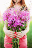 Women in flowers. Royalty Free Stock Images