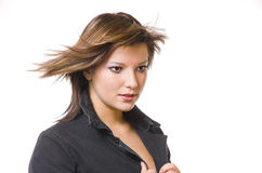 The women with in flying hair Royalty Free Stock Photo