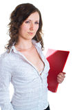 Women with a folder Royalty Free Stock Photo