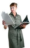 Women with a folder Stock Photo