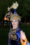 Women folk dance performance Stock Image