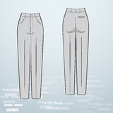 Women formal trousers Royalty Free Stock Photos