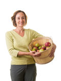 Women with fresh picked apples Royalty Free Stock Photo