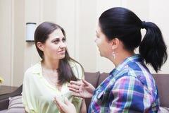 Women friends communicate Royalty Free Stock Photos