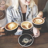 Women Friends Enjoyment Coffee Times Concept Stock Photos