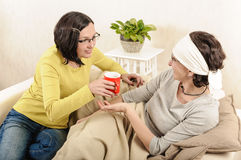 Women friends family care Royalty Free Stock Images