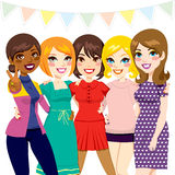 Women Friends Party royalty free illustration