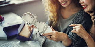 Women Friends Talking Fashion Shopping Concept Royalty Free Stock Image